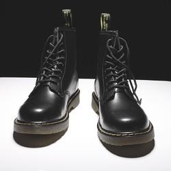 马丁靴男高帮英伦风韩版工装靴百搭潮鞋秋季皮靴中帮男靴冬季男鞋
