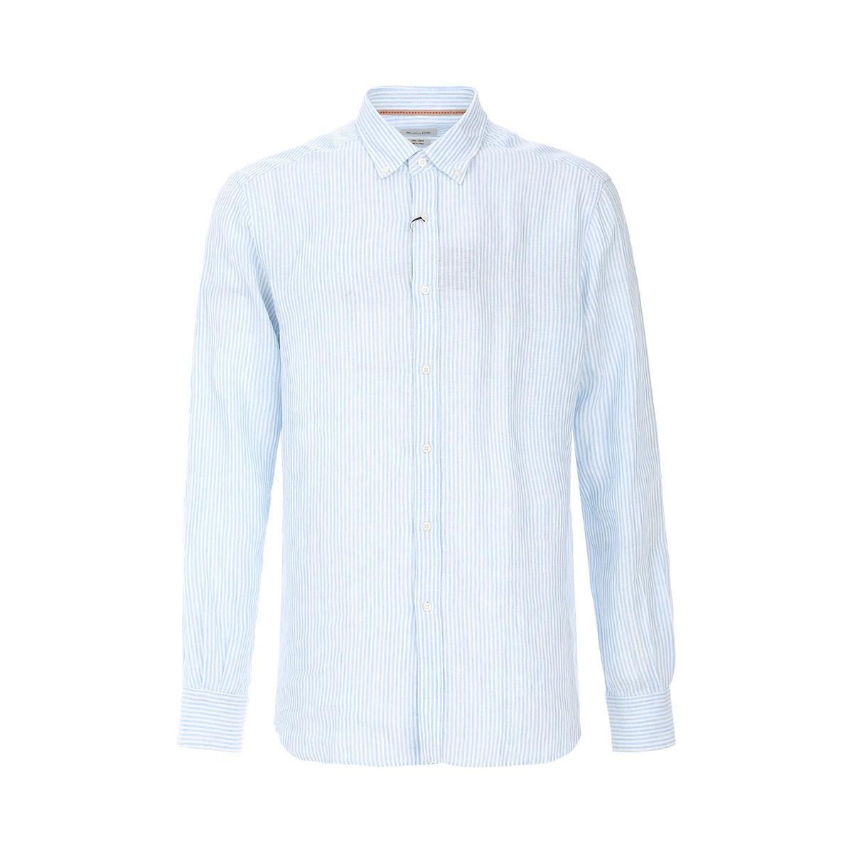 Massimo Dutti 16363403 男士条纹休闲衬衫