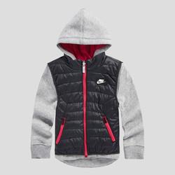 NIKE 耐克 防风保暖 女婴幼童款三合一连帽长袖运动套装 两件套