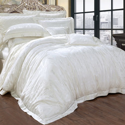 床上四件套丝绵提花被套床单床上用品四件套