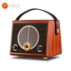 惠威(HiVi)Classical M4R 原木质复古无线便携蓝牙有源音箱FM收音机新概念音响新款创意礼品