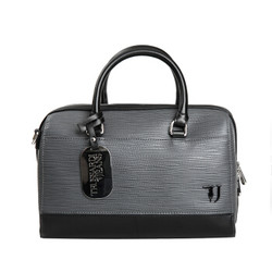 TRUSSARDI JEANS杜鲁萨迪 送女友奢侈品   女士灰色聚酯纤维保龄球包 75B00656 9Y099998 E695 NR