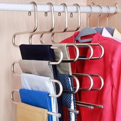 【3个装】裤架S型不锈钢衣架多功能衣挂晾衣架