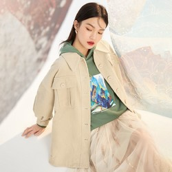 乐町 CWBBA351878 女款时尚复古外套