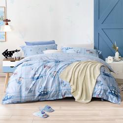 全棉四件套40支亲肤纯棉儿童被套床单床上用品三/四件套