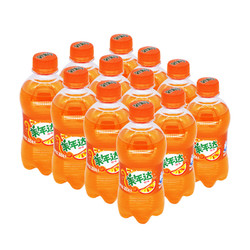 美年达橙味汽水300ML*12瓶碳酸饮料迷你瓶装 百事可乐出品 整箱自营