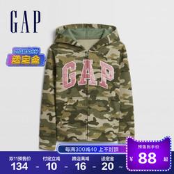 Gap 女童LOGO抓绒运动卫衣