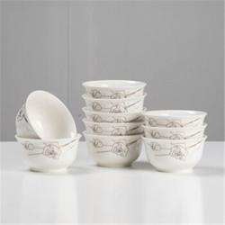 景德镇陶瓷餐具玫瑰骨瓷餐具套装陶瓷碗碟套装