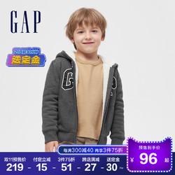 预售Gap男幼童女童仿羊羔绒运动卫衣592924秋冬2020新款童装开衫