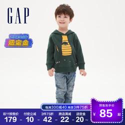 预售Gap男幼童女童碳素软磨运动卫衣秋冬619704 2020新款保暖童装