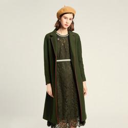 珂莱蒂尔旗下珂思品牌秋冬季时尚休闲双面呢毛呢外套女