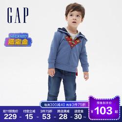 预售Gap男幼童女幼童DC联名抓绒卫衣秋冬617803 2020新款运动开衫