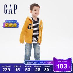 预售Gap男幼童女童仿羊羔绒保暖卫衣593319秋冬2020新款运动开衫