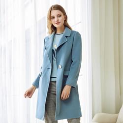 娜尔思冬女装毛呢大衣款显瘦宽松羊毛中长款呢子大衣