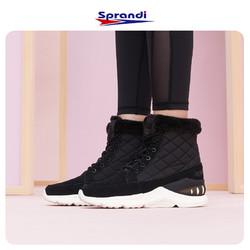 Sprandi斯潘迪运动鞋女鞋冬季加绒保暖短筒靴女增高鞋高帮雪地靴