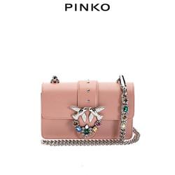 PINKO2020春夏彩色珠宝装饰迷你飞鸟包燕子包1P21M3Y5FF