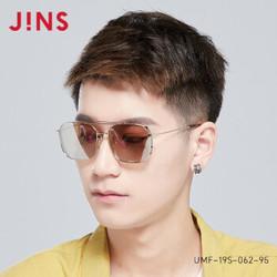 JINS睛姿19款金属时尚大框方框男女太阳镜墨镜防紫外线UMF19S062 96银色