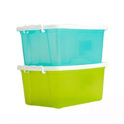 禧天龙citylong树脂收纳箱家用储物箱加厚整理箱有盖收纳盒透明24L *4件