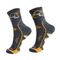 威迪瑞户外运动袜舒适透气秋冬季加厚速干袜子男女登山跑步袜吸汗袜子 金色 均码