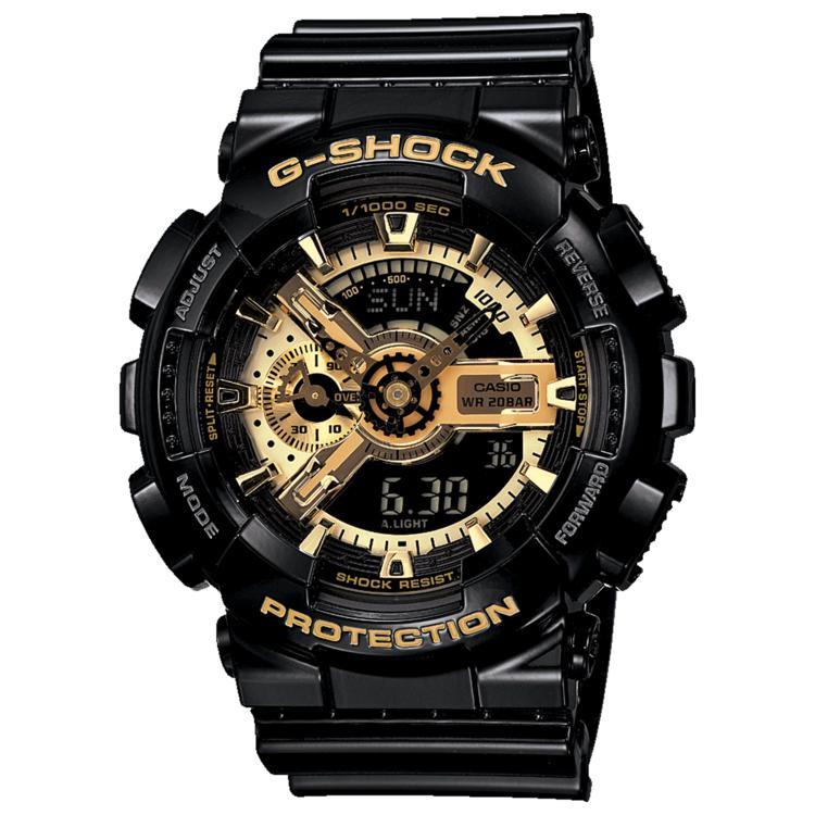G-Shock XL 黑金系列 防水防震防磁运动男表GM-110