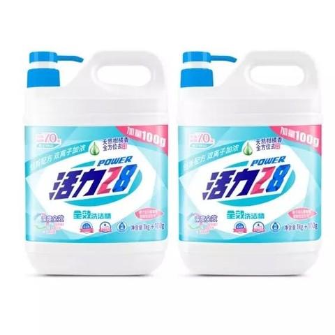 PLUS会员:活力28 食品级天然柑橘洗洁精 1.1kg*2瓶