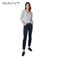 GANT/甘特秋冬女士时尚休闲直筒净色牛仔长裤4100013