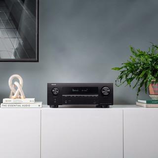 DENON 天龙 新X系列 AVR-X2600H 4K全景声7.2声道AV功放机 黑色