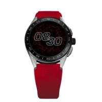 TAG Heuer 泰格豪雅 CONNECTED MODULAR智能腕表系列 SBG8A10.BT6230 45mm 男士电子表 黑盘 红色橡胶带 圆形