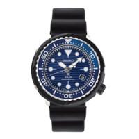 SEIKO 精工 PROSPEX系列 SNE518P1 46.7mm 男士太阳能手表 蓝盘 黑色硅胶带 圆形