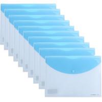 SUNWOOD 三木 C310 按扣式文件袋 10个装 A4 蓝色 *12件