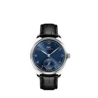 IWC 万国 葡萄牙系列 IW358305 40.4mm 男士机械手表 蓝盘 黑色真皮表带 圆形