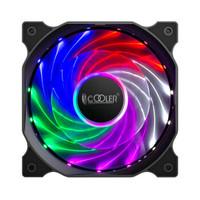 超频三(PCCOOLER)幻影 12CM机箱风扇 (幻彩镭射光效/五彩LED15灯风扇/静音/接口可串联/配螺丝)