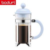 丹麦bodum 波顿法压壶 葡萄牙进口 德国肖特玻璃 咖啡壶家用手冲咖啡具便携350ml过滤杯 A1913-XYB-Y19 蓝色