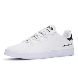 乔丹 男鞋板鞋小白鞋休闲鞋运动鞋男 XM2580311 白色/黑色 42.5