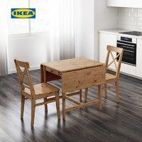IKEA 宜家 IKEA00000542S INGATORP 英格托 翻板实木桌 褐色