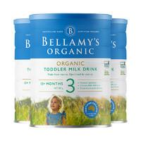 BELLAMY'S 贝拉米 有机奶粉 3段(12个月以上) 900克/罐 3罐装