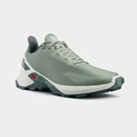 萨洛蒙(Salomon)男款 户外运动透气舒适休闲越野跑鞋 ALPHACROSS BLAST 灰绿色 410237 UK8(42)