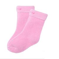 Bornbay 贝贝怡 204P2299 婴儿透气保暖袜子三双装 淡粉色 0-3个月