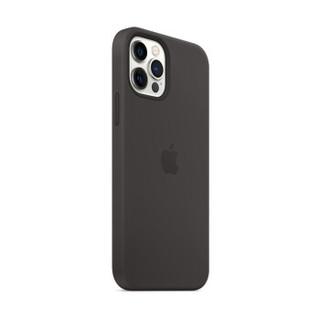 Apple iPhone 12   12 Pro 专用原装Magsafe硅胶手机壳 保护壳 - 黑色