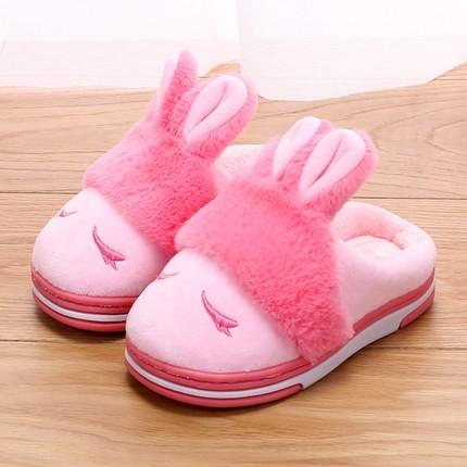 嘟米兔 宝宝卡通小兔棉拖鞋