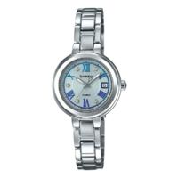 CASIO 卡西欧 SHEEN系列 SHS-4523D-7A 女士太阳能手表 31mm 蓝盘 银色不锈钢带 圆形