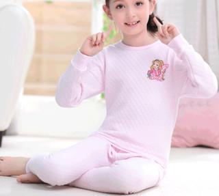 Barbie 芭比 女童三层保暖夹棉居家套装 CB9803FS 浅粉色 130cm