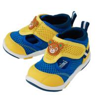 MIKI HOUSE 儿童网面透气学步鞋 蓝色/蛋黄色 12.5cm