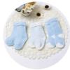 Bornbay 贝贝怡 204P2299 婴儿保暖毛圈袜三双装 淡蓝色 3-12个月