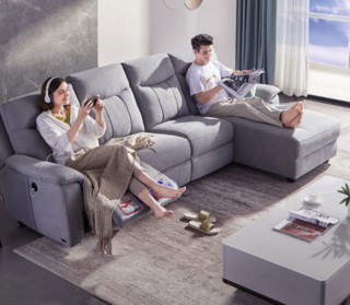 CHEERS 芝华仕 10373 电动布艺功能沙发组合 四人位