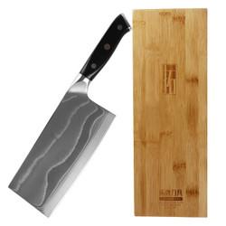 TUOBITUO 拓 DF01B 刀具颂系列 大马士革菜刀 +凑单品