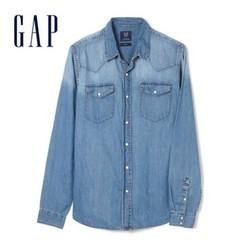 Gap 939051 E 男装复古尖领棉衬衫