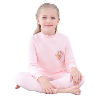 Barbie 芭比 女童夹棉保暖居家服套装 CB9805JF 粉红色 170cm