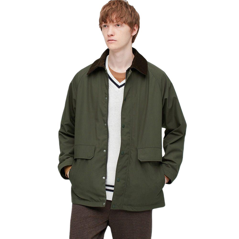 UNIQLO 优衣库 男士棉质猎装式夹克UQ428990000 墨绿色L
