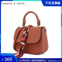 CHARLES&KEITH 单肩包 CK2-50780496 丝带翻盖式单肩手提斜挎包